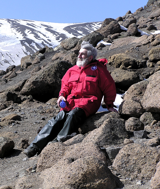 Rudy Scheltema at Deception Island.
