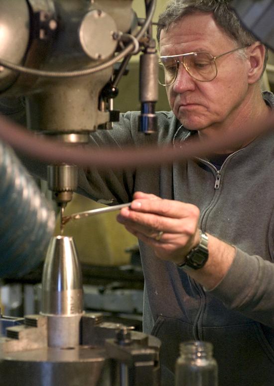 Rene Kokmeyer in the machine shop