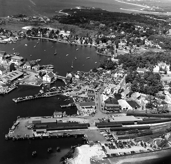 woods hole village, circa 1948