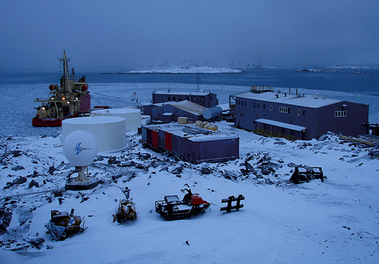The icebreaker Laurence M. Gould at Palmer Station