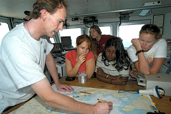 Summer Student Fellows learn navigational techniques