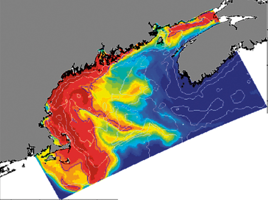 WHOI scientists created a computer simulation of the historic 2005 toxic algae bloom in New England.