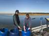 WHOI Associate Scientist Matt Charrette (left) and Research Assistant Matt Allen.