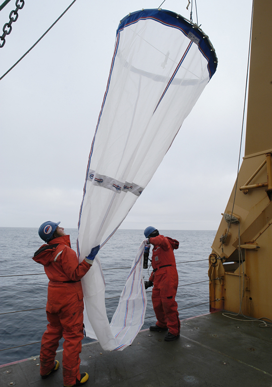 Carin Ashjian and Marine Science Technician Daniel Gaona.