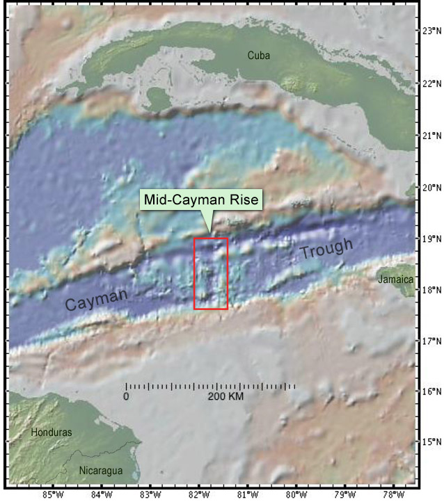 Mid-Cayman Rise study area.