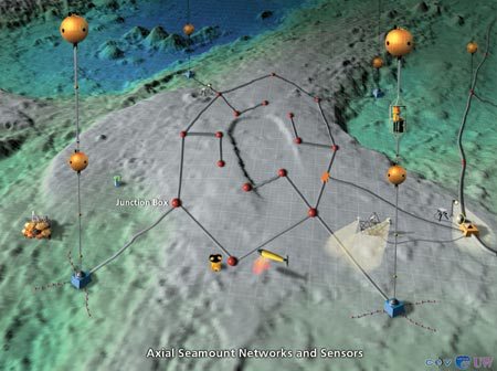 NEPTUNE: Axial Seamount Networks and Sensors