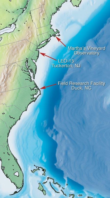 three observatories on east coast