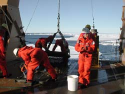 scientists and crew aboard the maiden voyage of the U.S. icebreaker Healy