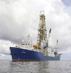 the research vessel JOIDES Resolution