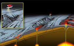 lava paved seafloor