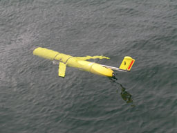WHOI glider in the water
