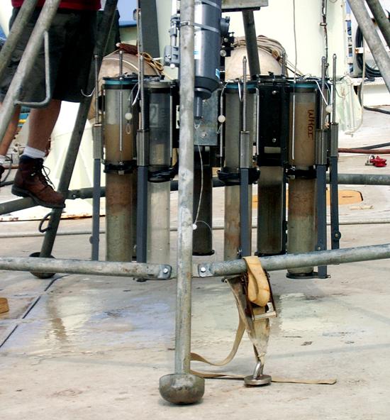 Detail of multi corer tripod