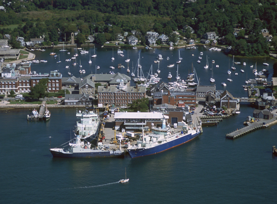 woods hole village aerial