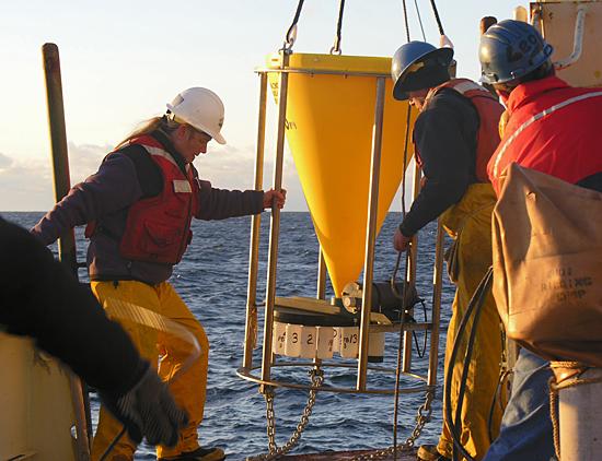 sediment trap deployment