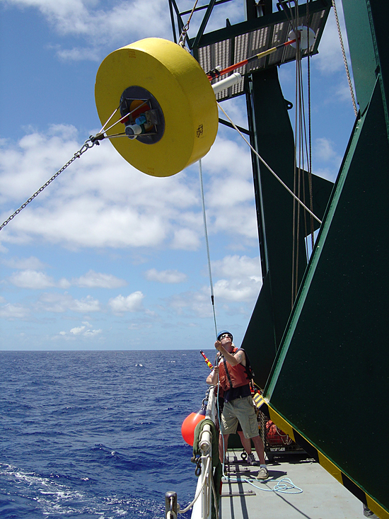 Mooring deployment operation, R/V Kilo Moana, Vertigo Hawaii Cruise