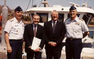 George Naccara, Robert Gagosian, Richard Pittenger, and Captain Russ Webster