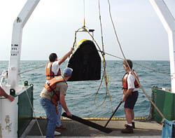 SUBSCAN being brought aboard