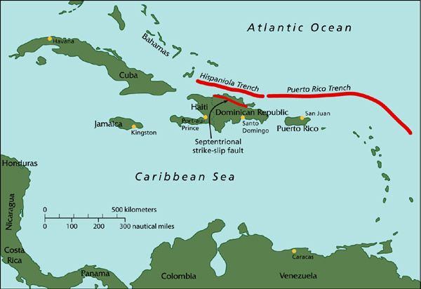 major caribbean earthquakes  tsunamis  real risk woods hole oceanographic institution