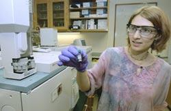 Teuten displays a vial