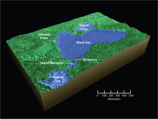Black Sea Present Day Levels