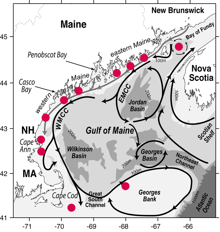 mooring locations