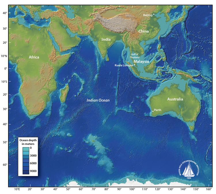 FAQ Malaysia Airlines Flight Woods Hole Oceanographic - Oceanographic map