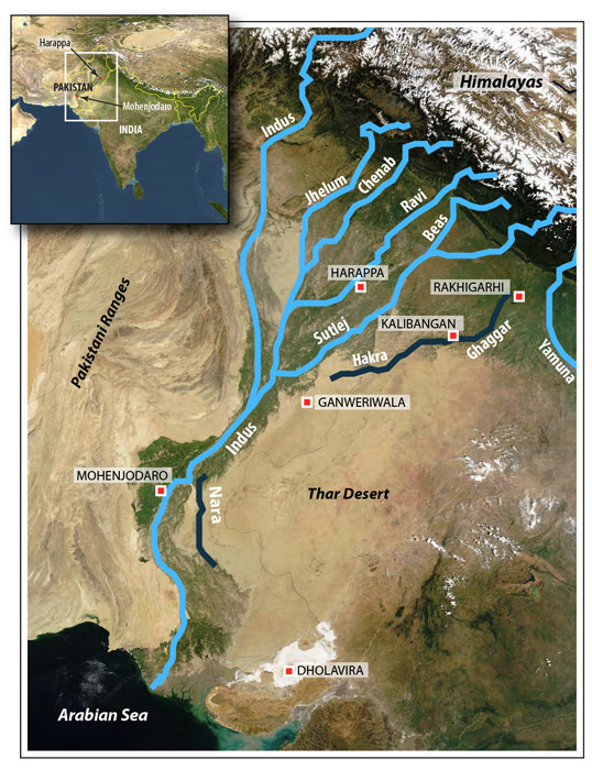 Climate Change Led to Collapse of Ancient Indus Civilization