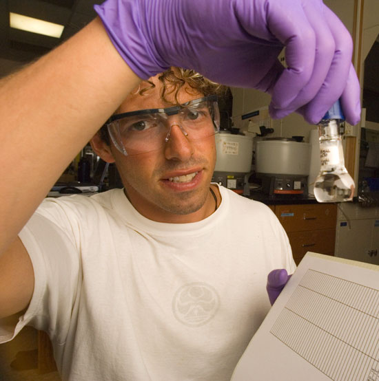 Eric Montie in the lab