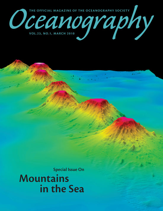Oceanography magazine cover