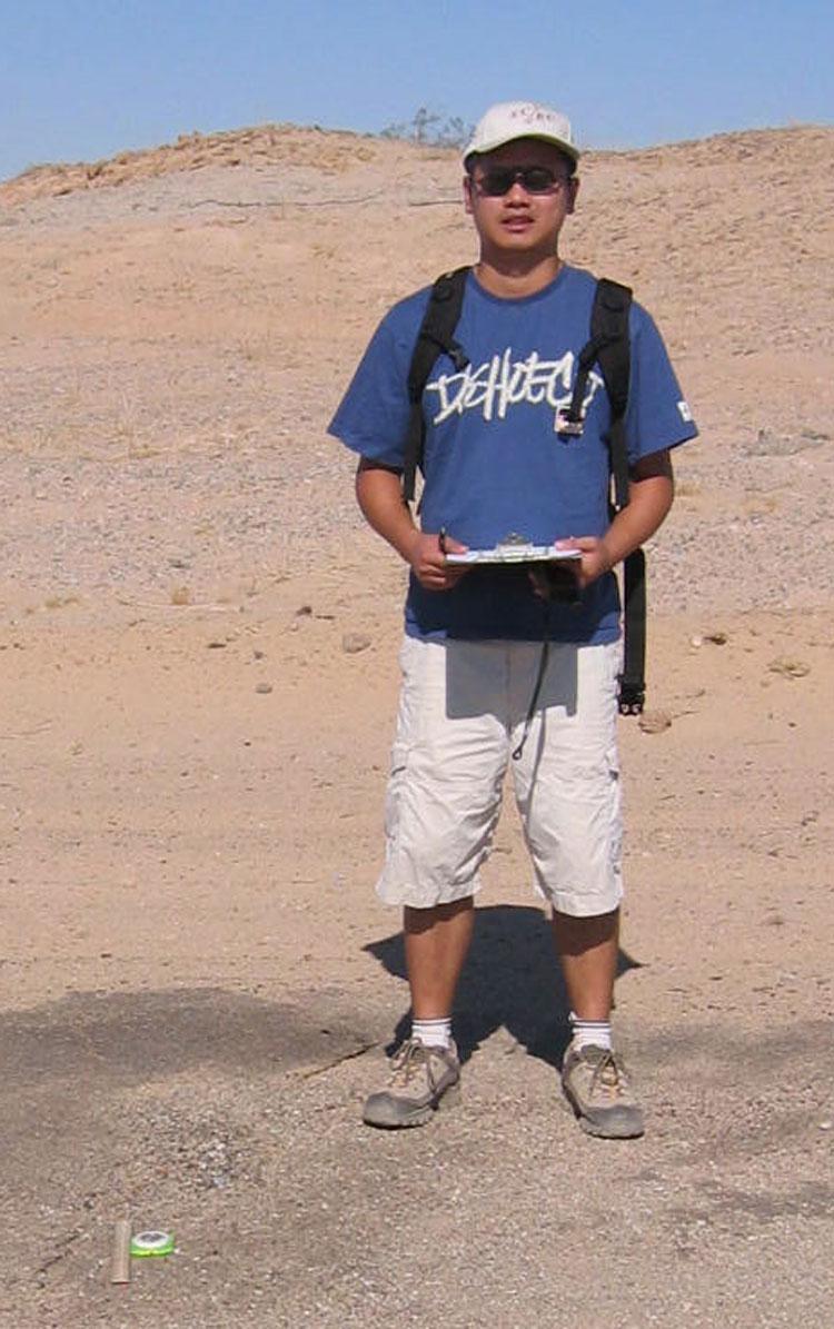 Matt in the field