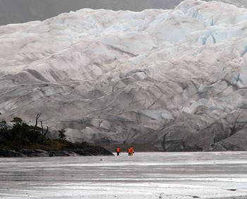 Bertrand on glacier