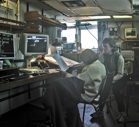 Bower and Lozier on ship