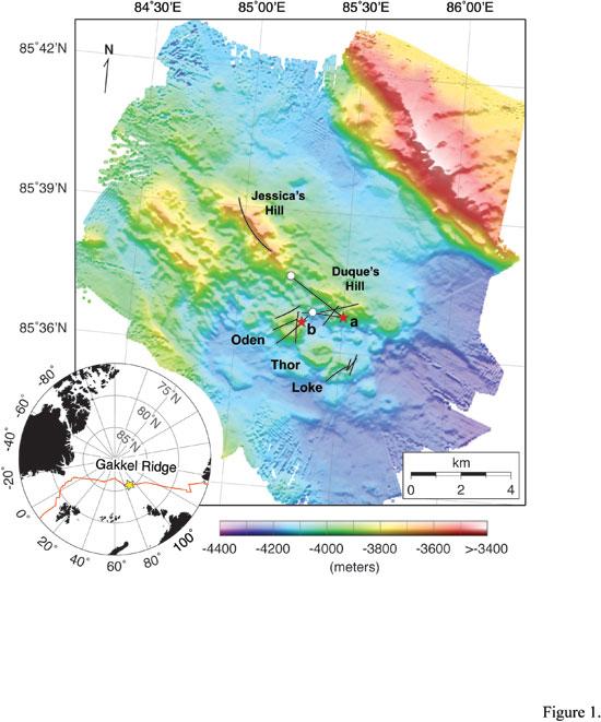 gakkel seafloor bathymetry