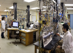 The National Ocean Sciences Accelerator Mass Spectrometry Facility (NOSAMS) at WHOI provides analyses of 14C at natural abundance levels to the ocean sciences research community.