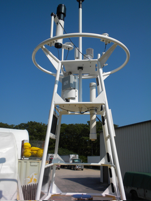 pCO2 sensor on a buoy tower