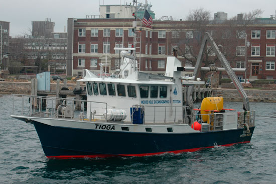 coastal research vessel Tioga