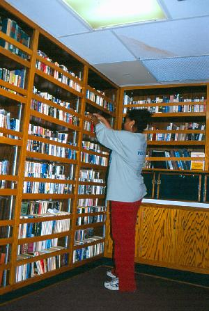 Dierdre Gibson in Ship's Library
