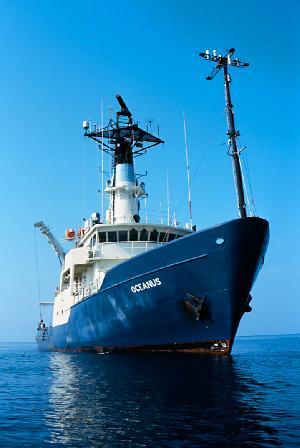 R/V Oceanus in Calm Seas