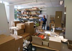 Marine chemist Dan Repeta and other researchers began moving into their new labs this fall.