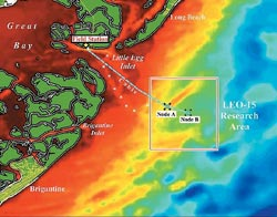 map of LEO's subseafloor cable
