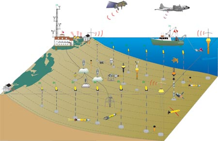 schematic of LEO instruments on the seafloor