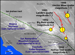 location map of earthquakes