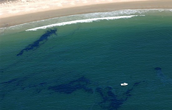 98,000 gallons of fuel oil were spilled