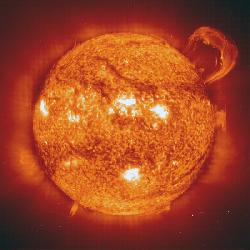 sun viewed in extreme ultraviolet light