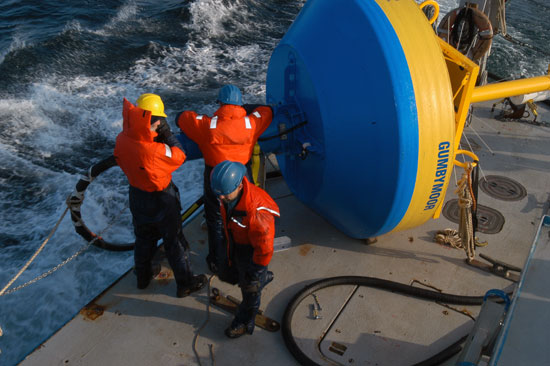 prepare the Gumbymoor buoy for deployment