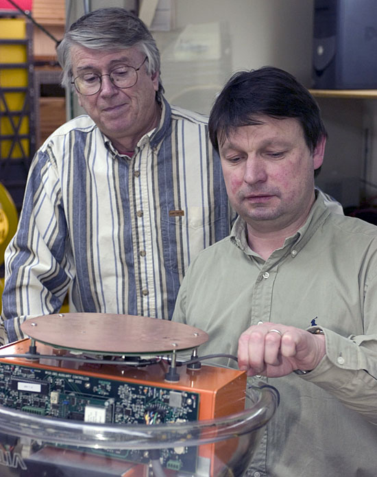 examining pieces of an ocean-bottom seismometer