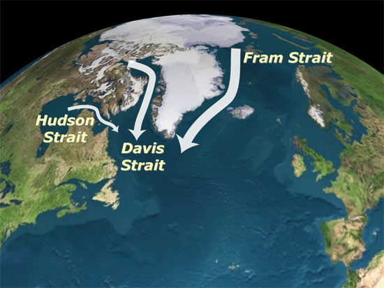 Arctic region contains a large reservoir of relatively fresh water