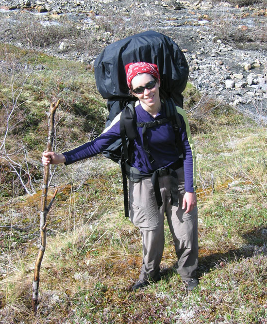 Sheri Simmons escapes the lab whenever she can, and has been packpacking from Newfoundland to here, in the Gates of the Arctic National Park, Alaska