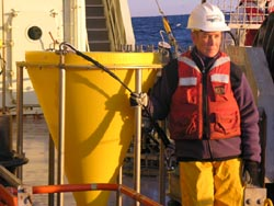 sediment trap on deck