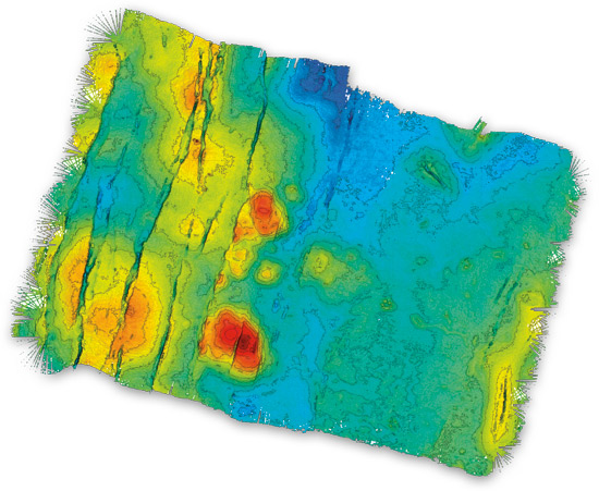 bathymetric map, ABE
